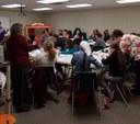 Full house for our first beginner's crochet class