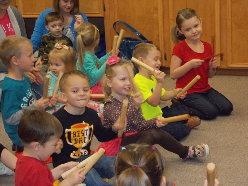 Having fun with our new instruments!