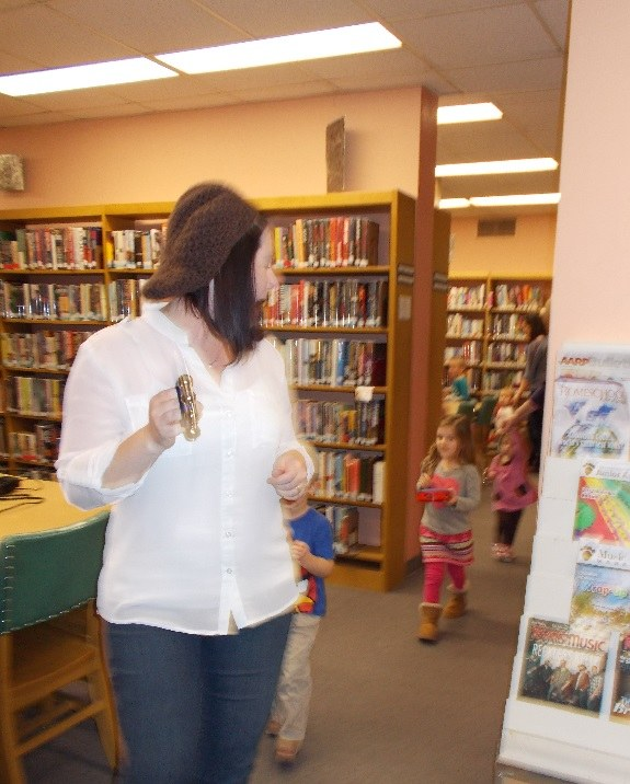 Ms. Jamie leading the Story Hour Parade