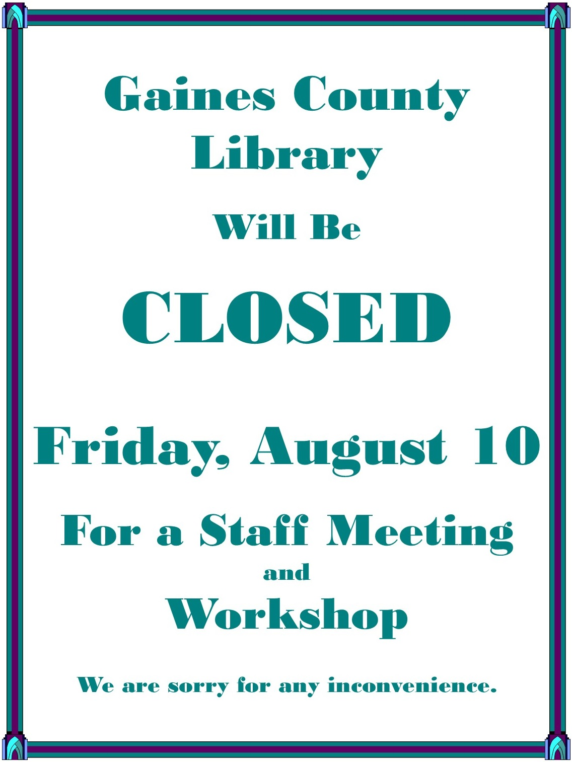 Staff meeting closed